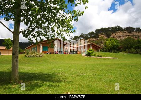 The community center in the small French farming village of La Martre, in the Gorges du Verdon, Alpes de Haute, - Stock Photo