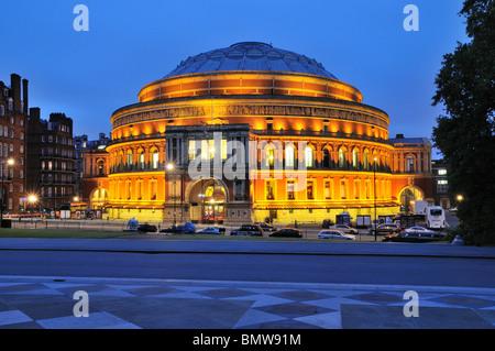 Royal Albert Hall at night - Stock Photo