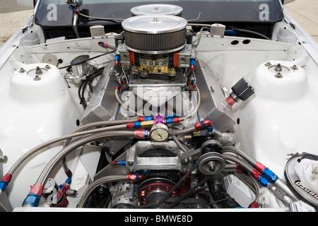 High power V8 drag racing engine - Stock Photo