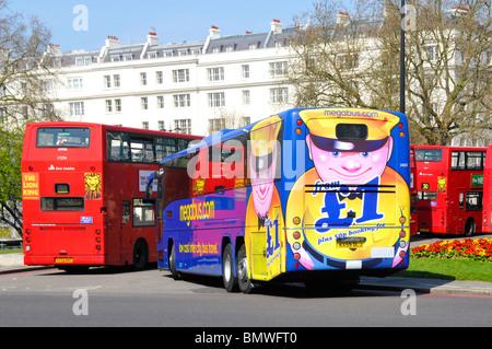 Megabus coach at Marble Arch London - Stock Photo