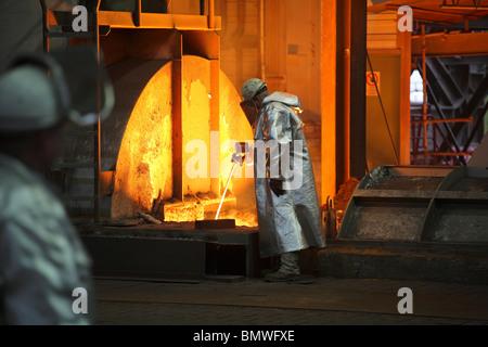 ThyssenKrupp Steel AG, Duisburg, Germany - Stock Photo