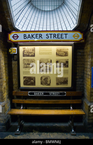 Baker street underground station Marylebone central London England UK Europe - Stock Photo