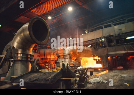 Blast Furnace in the Thyssen Krupp Duisburg Steel Mill - Stock Photo