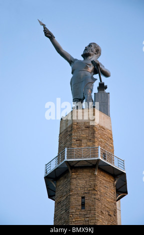 The Vulcan Statue at Vulcan Park & Museum, Birmingham, Alabama, USA - Stock Photo