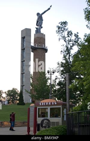 Vulcan Park and the Vulcan Statue at Vulcan Park & Museum, Birmingham, Alabama, USA - Stock Photo