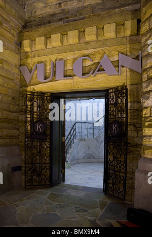 The entrance at the bottom of the Vulcan Statue at Vulcan Park & Museum, Birmingham, Alabama, USA - Stock Photo