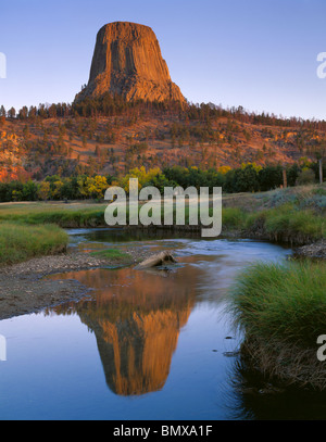 Devils Tower Wy >> Devil's Tower National Monument, WY Morning sun on Devil's Tower Stock Photo: 30081244 - Alamy