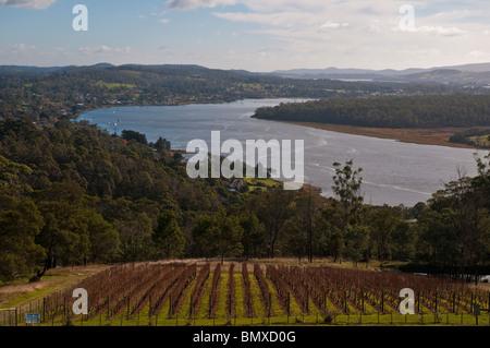 The Tamar River near Launceston in northern Tasmania - Stock Photo