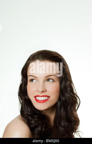 Young brunette woman, portrait - Stock Photo