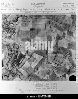 Old Sarum, Nr. Salisbury - Wiltshire 1st October 1940 Airfield - Stock Photo