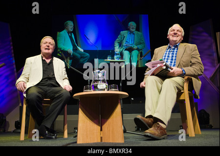 Former Met Commissioner Sir Ian Blair (left) pictured at Hay Festival 2010 Hay on Wye Powys Wales UK - Stock Photo