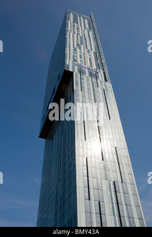 The hilton tower or the beetham tower located on manchesters deansgate road. - Stock Photo