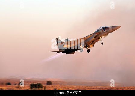 Israel Israeli mid east middle east  army IDF Armed forces IAF Israel Air Force McDonnell Douglas F-15 Eagle - Stock Photo