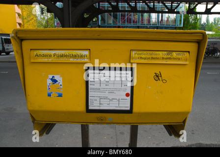 Mailbox Kreuzberg west Berlin Germany Europe - Stock Photo