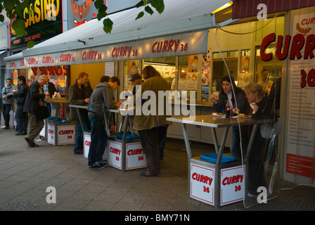 Famous Curry 36 sausage restaurant Kreuzberg west Berlin Germany Europe - Stock Photo