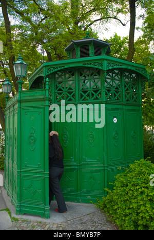 Public toilet Senefelder Platz square Prenzlauer Berg east Berlin Germany Europe - Stock Photo