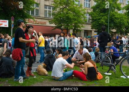 Karneval der Kulturen (Carnival of Cultures) street festival Kreuzberg Berlin Germany Eurore - Stock Photo