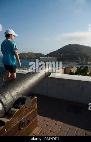 Vista de Cartagena desde el Castillo de la Concepcion. CARTAGENA España View from Concepcion Castle CARTAGENA CITY - Stock Photo