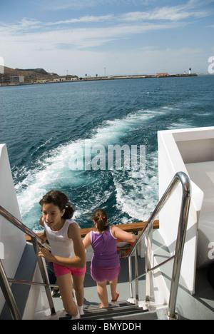 Barco turistico CARTAGENA CIUDAD region Murcia ESPAÑA Tourist boat CARTAGENA CITY Murcia region SPAIN - Stock Photo