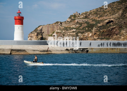 Barco turistico CARTAGENA CIUDAD region Murcia ESPAÑA Tourist boat CARTAGENA CITY Murcia region SPAIN - Stock Photo