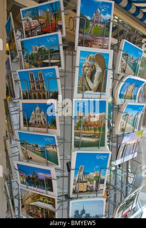 Paris postcards Le Marais district central Paris France Europe - Stock Photo
