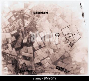 Tuddenham, Nr. Bury St. Edmunds - Suffolk 1940 Airfield - Stock Photo