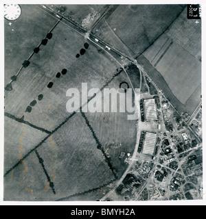 Honington, Nr. Bury St. Edmunds - Suffolk 1940 Airfield - Stock Photo