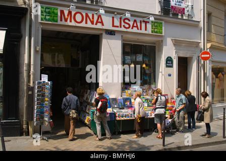 Mona Lisait bookshop Le Marais district central Paris France Europe - Stock Photo