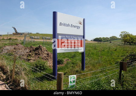Site where proposed Hinkley C Nuclear Power station would be built. - Stock Photo