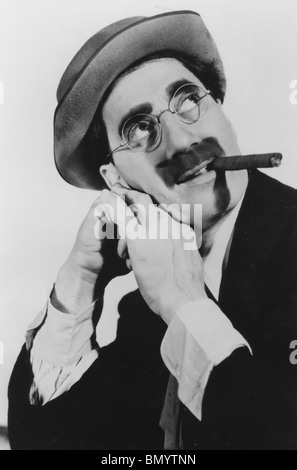 JULIUS 'Groucho' MARX  (1890-1977)  American comedian and one of the Marx Brothers - Stock Photo