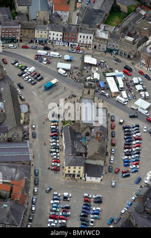 Market Square, Richmond, North Yorkshire, Northern England - Stock Photo