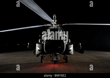 An AH-64D Apache Longbow at a U.S. operating base near Tikrit, Iraq. - Stock Photo