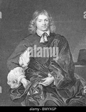 Lucius Cary, 2nd Viscount Falkland (1610-1643) on engraving from the 1800s. English politician, soldier and author. - Stock Photo