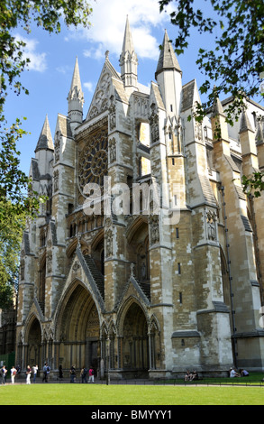 Westminster Abbey London North Entrance - Stock Photo
