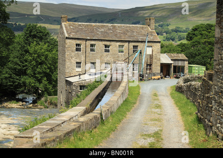 Gayle Mill, in Gayle near Hawes in Wensleydale, Yorkshire Dales, England - Stock Photo