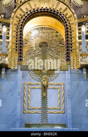 Otto Wagner's St Leopold Church, Vienna, Austria - Stock Photo