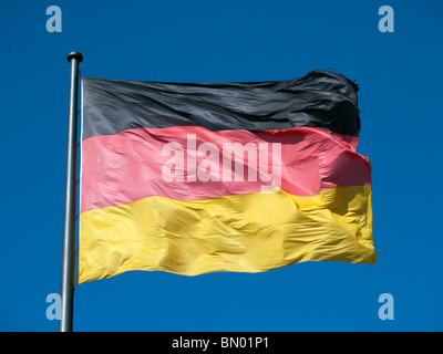 Close-up view of German flag - Stock Photo