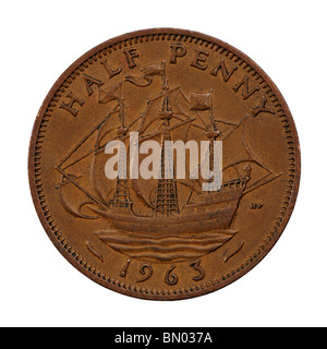 Half Penny Coin - Stock Photo