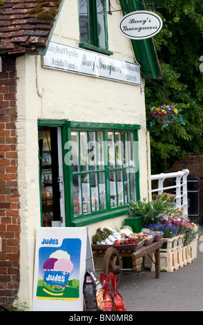 Hampshire's Stockbridge High Street was voted 'best foodie street' UK, nr Winchester, Hampshire, England - Stock Photo