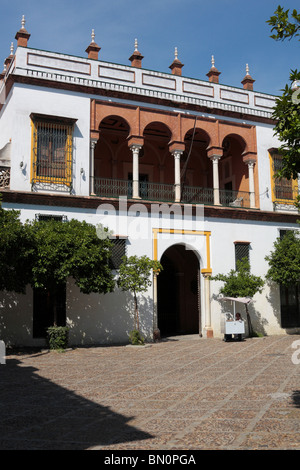 The Casa de Pilatos a Mudejar house said to be modeled on Pontius Pilates villa in Rome Seville Ansalucia Spain - Stock Photo