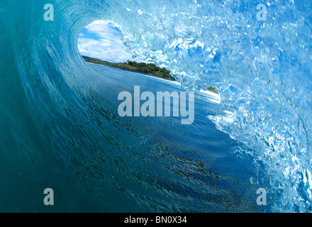 In the tube of a wave - Stock Photo