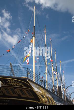 Brunel's SS Great Britain in bristol docks - Stock Photo