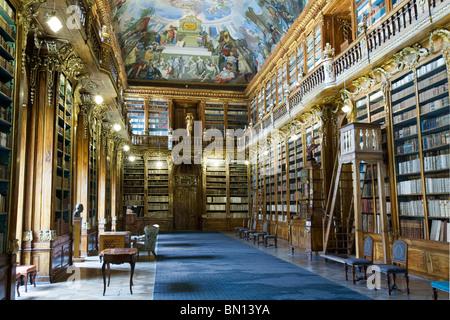 Strahov Library - Original Baroque Cabinets, Prague - Stock Photo