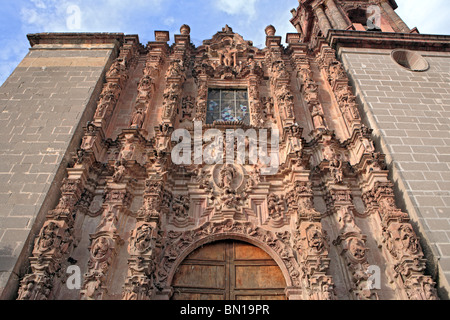 San Francisco church (1799), San Miguel de Allende, state Guanajuato, Mexico - Stock Photo