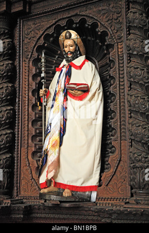 Statue in Santiago Apostle church, Santiago Atitlan, Guatemala - Stock Photo
