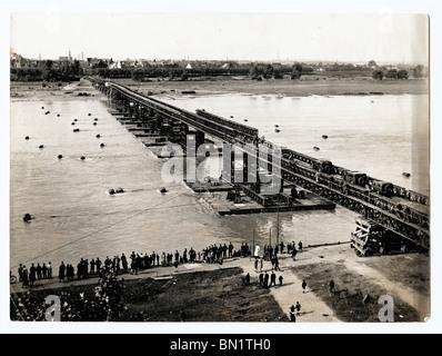 Bridge over the River Rhine, Germany. - Stock Photo