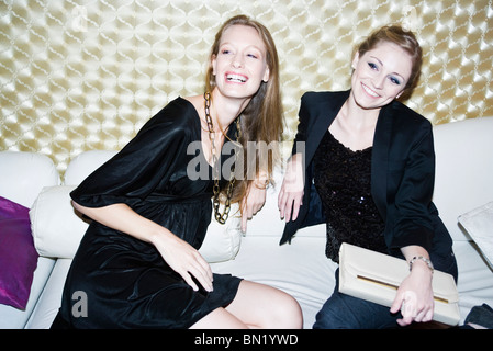 Friends out together at nightclub - Stock Photo