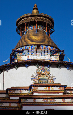Gyantse Kumbum at Pelkor Chode Monastery in Gyantse, Tibet - Stock Photo