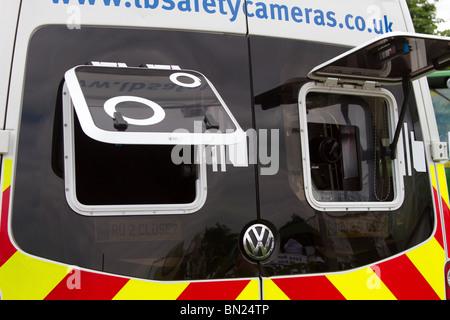 VW Police Camera's speed detection van; UK Surveillance vehicles at the great Royal Highland Show 2010 _Scottish - Stock Photo