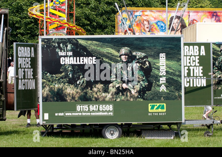 A TA army recruitment center at an Armed Forces Day event - Stock Photo